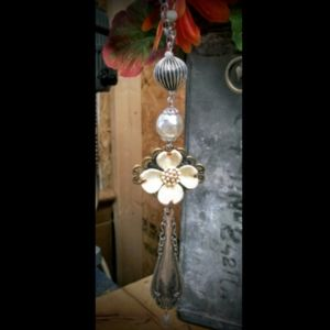 Antique/vintage silver plated spoon necklace.